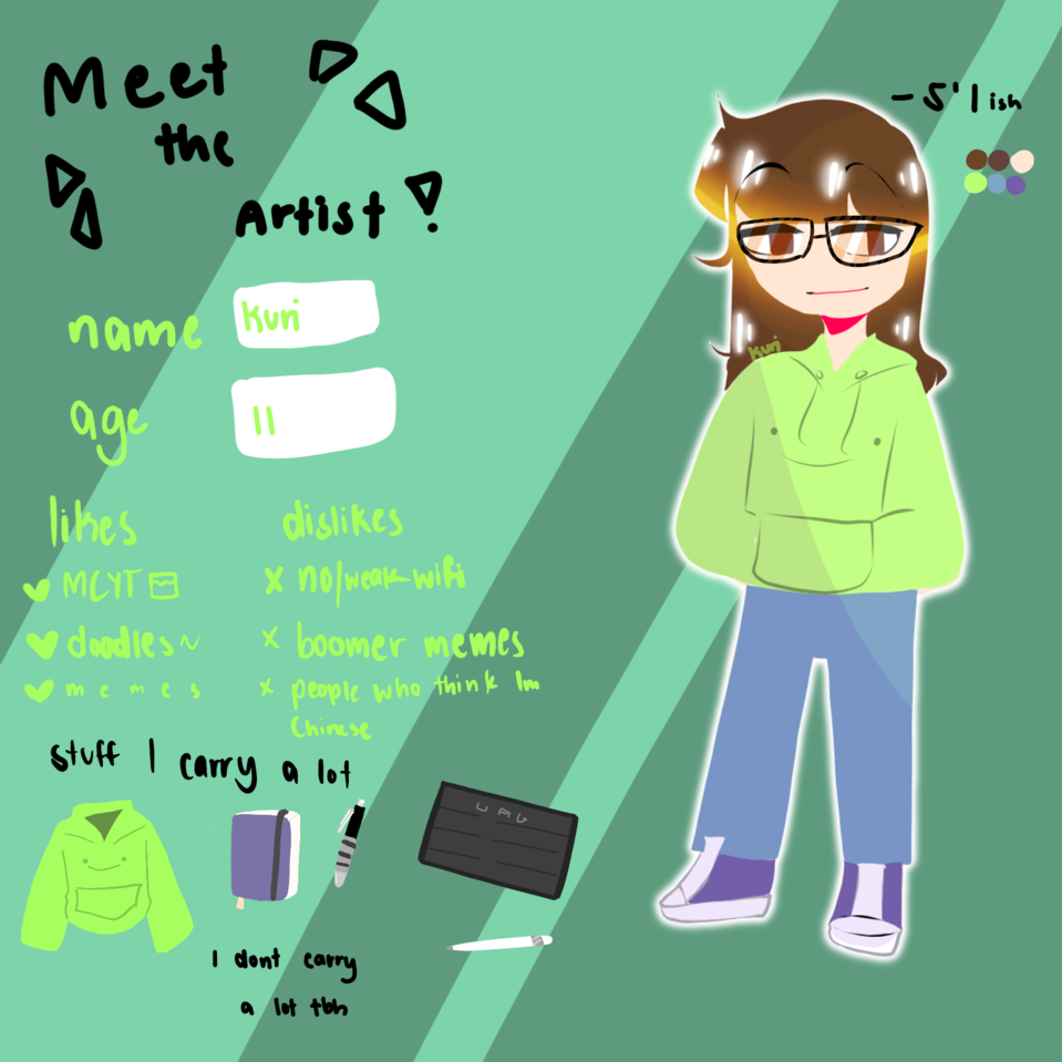 Another meet the artist cause I'm bored Illust of DreamiiKuri | Drèam mode©️ oc drawing procreate lineless anime meettheartist