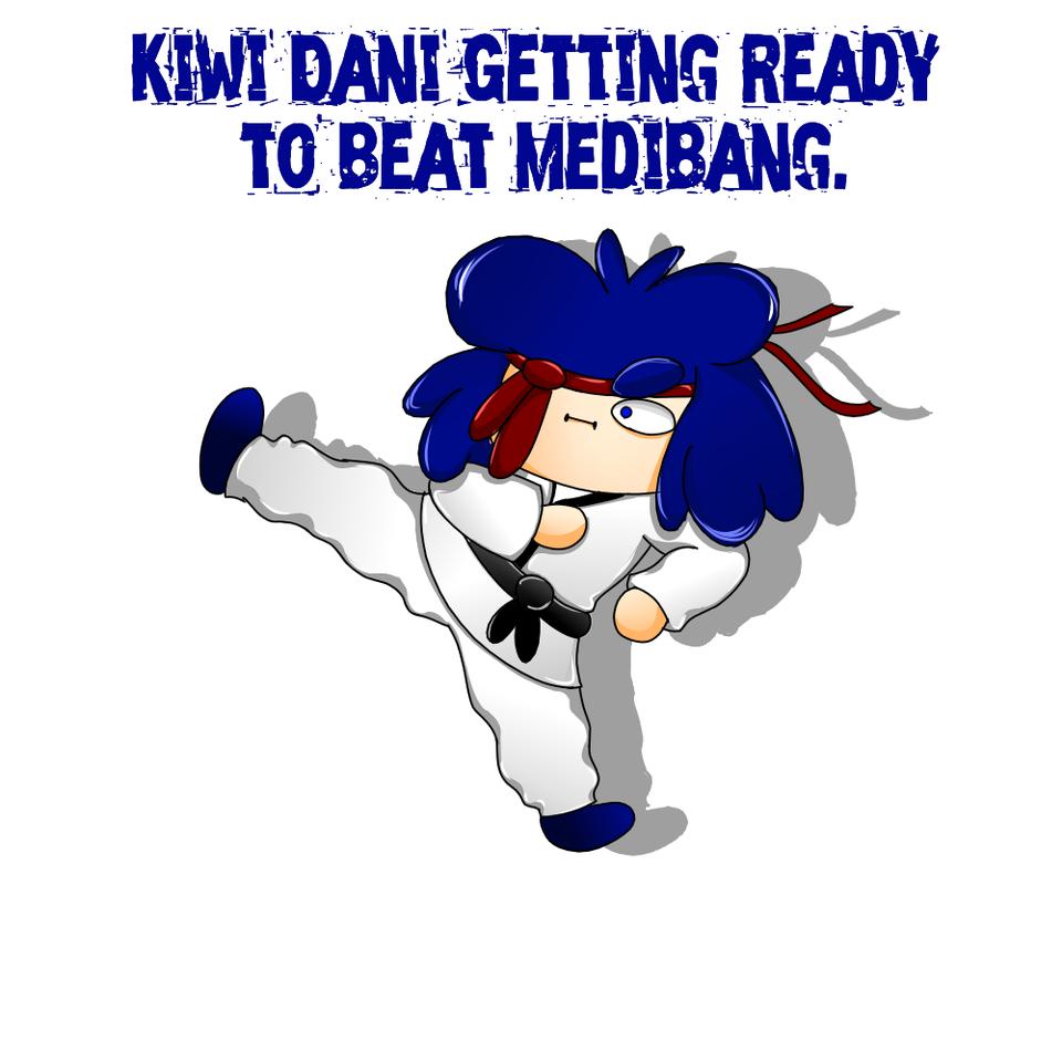 Kiwi Dani getting ready to beat Medibang !! Illust of Danizinha Undertale medibangpaint FIGHTTT!!!!