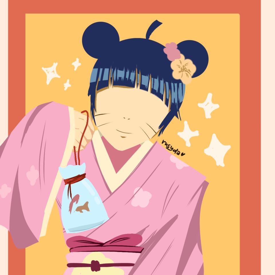 🌻Uzumaki's Lil Princess🌻 Illust of Rusyda Si Pelukis illustration himawari girl fanartdigital NARUTO anime fanart BORUTO kawaii cute