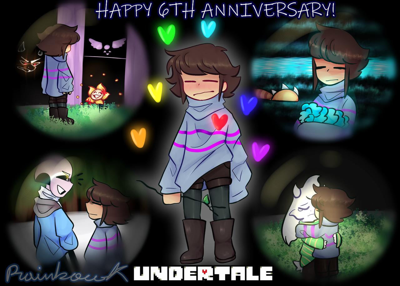 Happy 6th anniversary! Illust of •Rainbow the Skeleton UwU• medibangpaint 6thanniversary undertale
