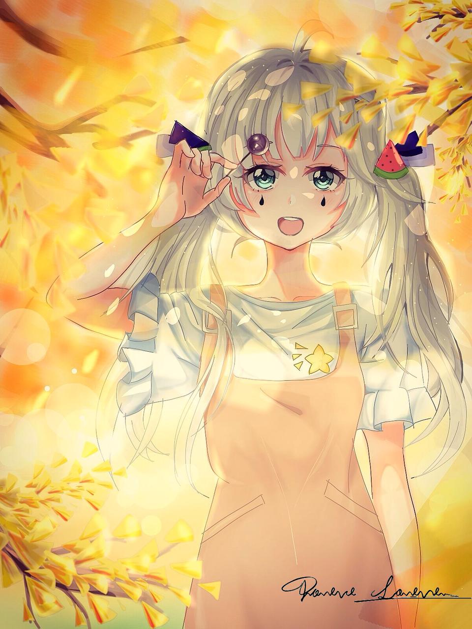 杏树.女孩
