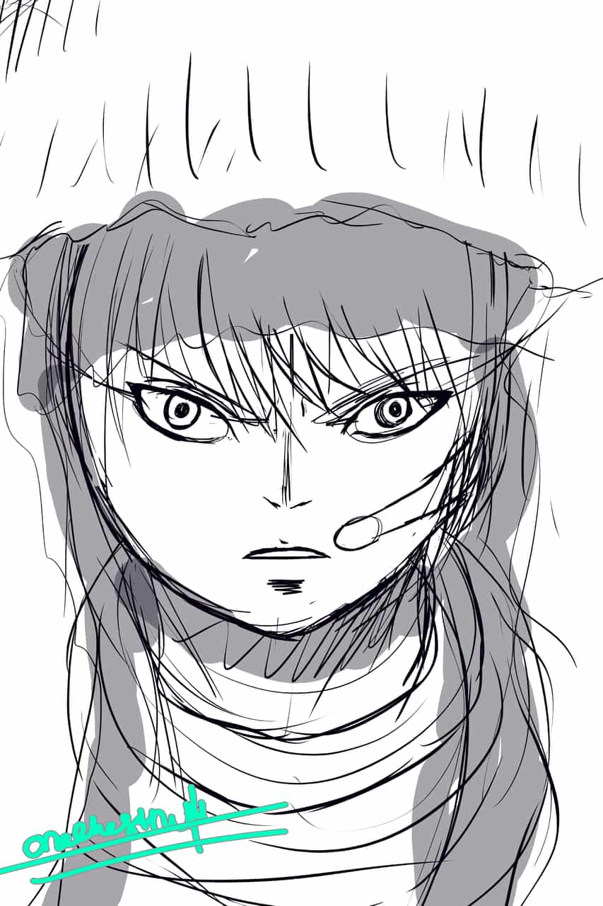 Portrait (again with experimenting) Illust of 栗つ🌰 Post_Multiple_Images_Contest manga art portrait oc digital character jumppaint medibang male
