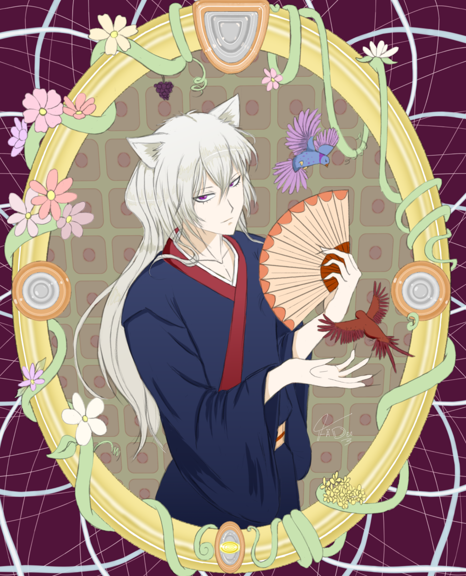 Tomoe -- For Lhyr •~• Illust of FÄDEE April2021_Flower cat_ears KamisamaKiss fanart man commission art illustration tomoe medibang anime
