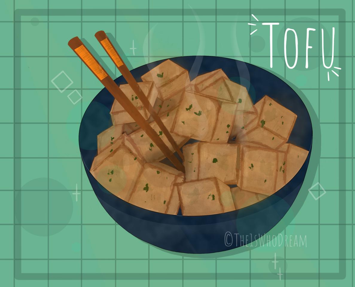 Tofu! ~desc~ Illust of The1sWhoDream Tofu food Procreate