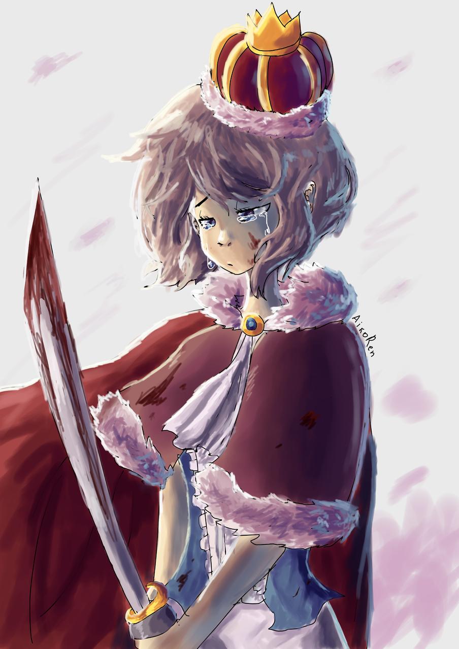 I couldn't save them Illust of aikoren medibangpaint girl sad princess art animeart oc