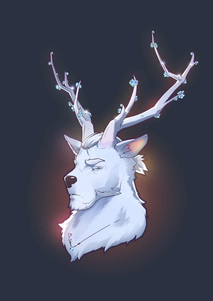 白鹿 Illust of Yanxi September2020_Contest:Furry furry deer