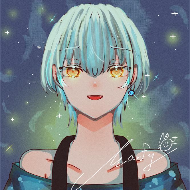 如月ルヰ【柴サファさん】 Illust of Marfy boy blue きらきら white_hair portrait かっこいい KINGOFPRISM 如月ルヰ handsome