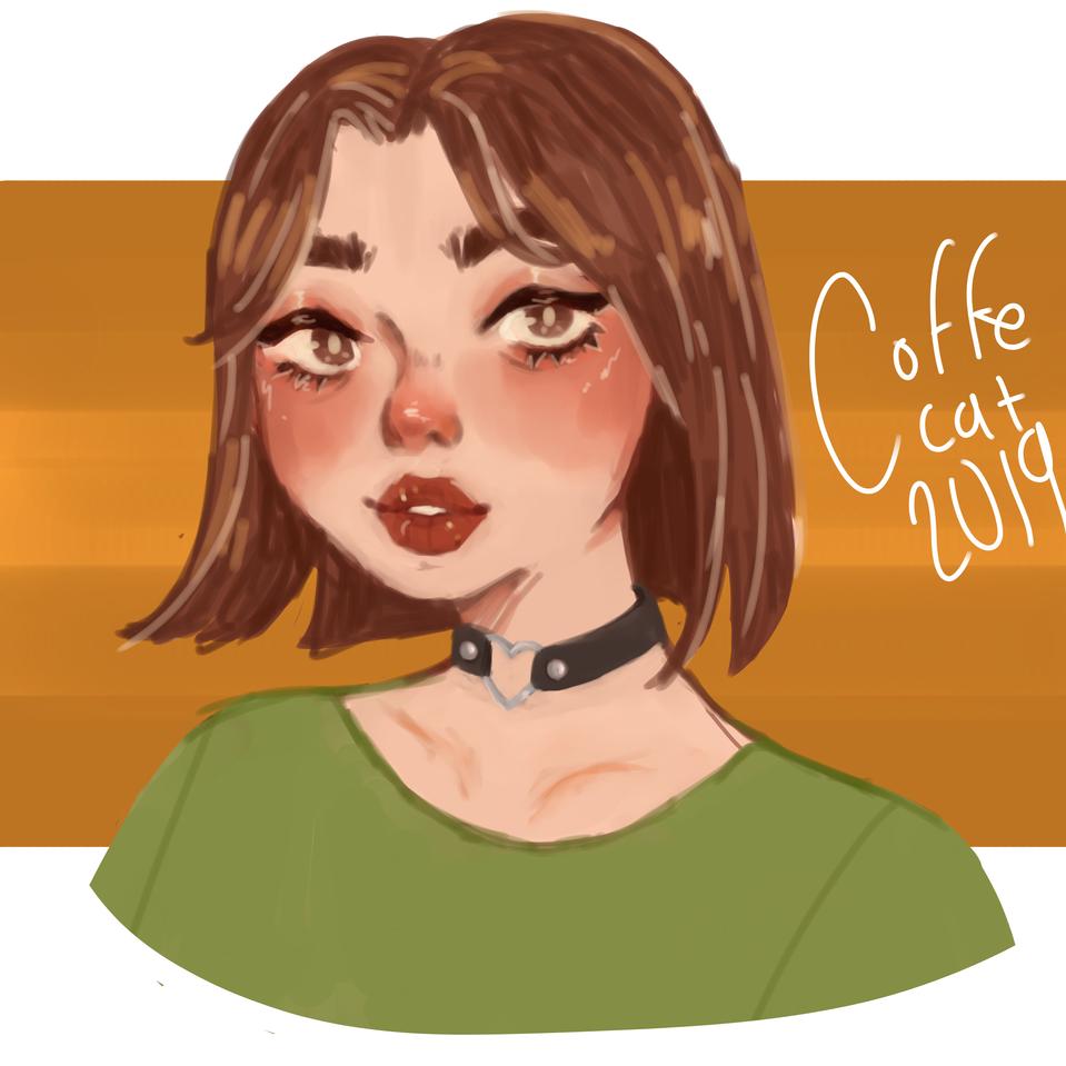 me Illust of coffecat medibangpaint