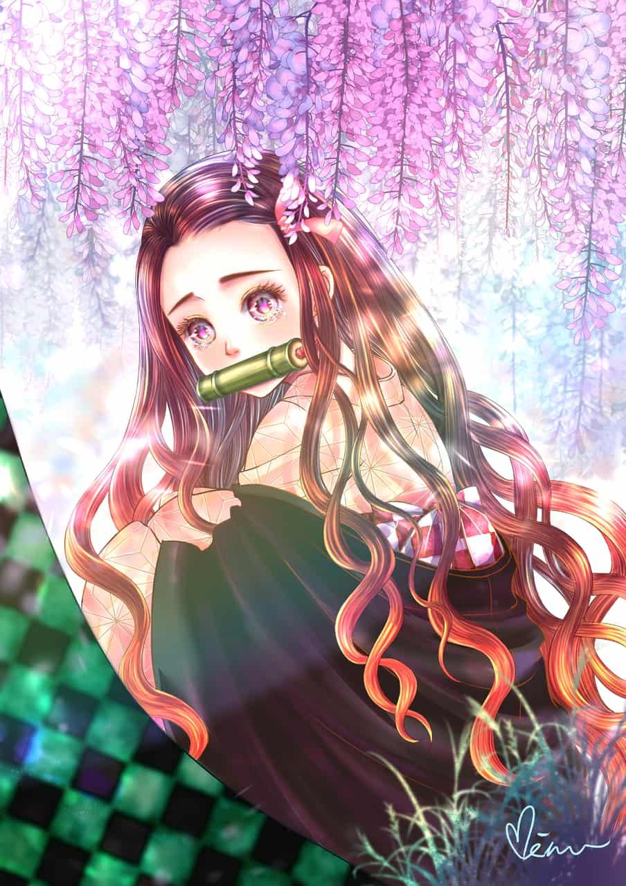 淚眼禰豆子 Illust of Miru米如 DemonSlayerFanartContest KimetsunoYaiba CLIPSTUDIOPAINT KamadoNezuko tears 藤の花