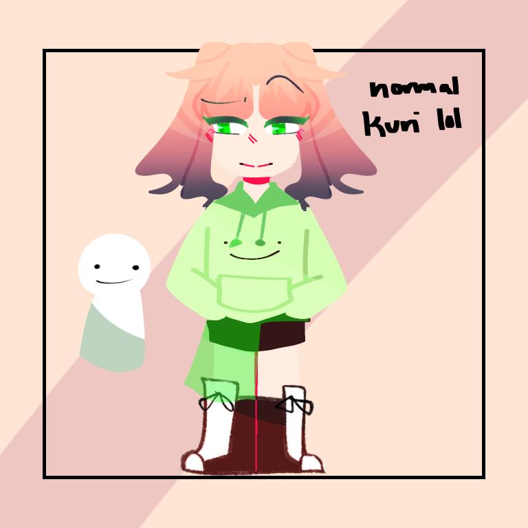 That one post I did but normal colors Illust of DreamiiKuri | Drèam mode©️ anime drawing oc pink lineless