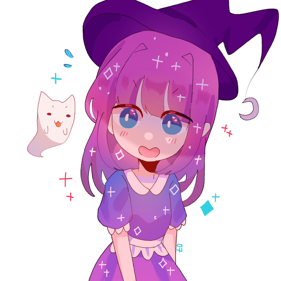 toki! (adopt from creampuffu) Illust of pErSon pink witch medibangpaint girl cute original oc