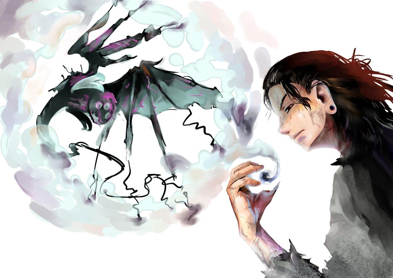 From ash to ash Illust of Lear JujutsuKaisenFanartContest Ash fanart monster art GetoSuguru JujutsuKaisen