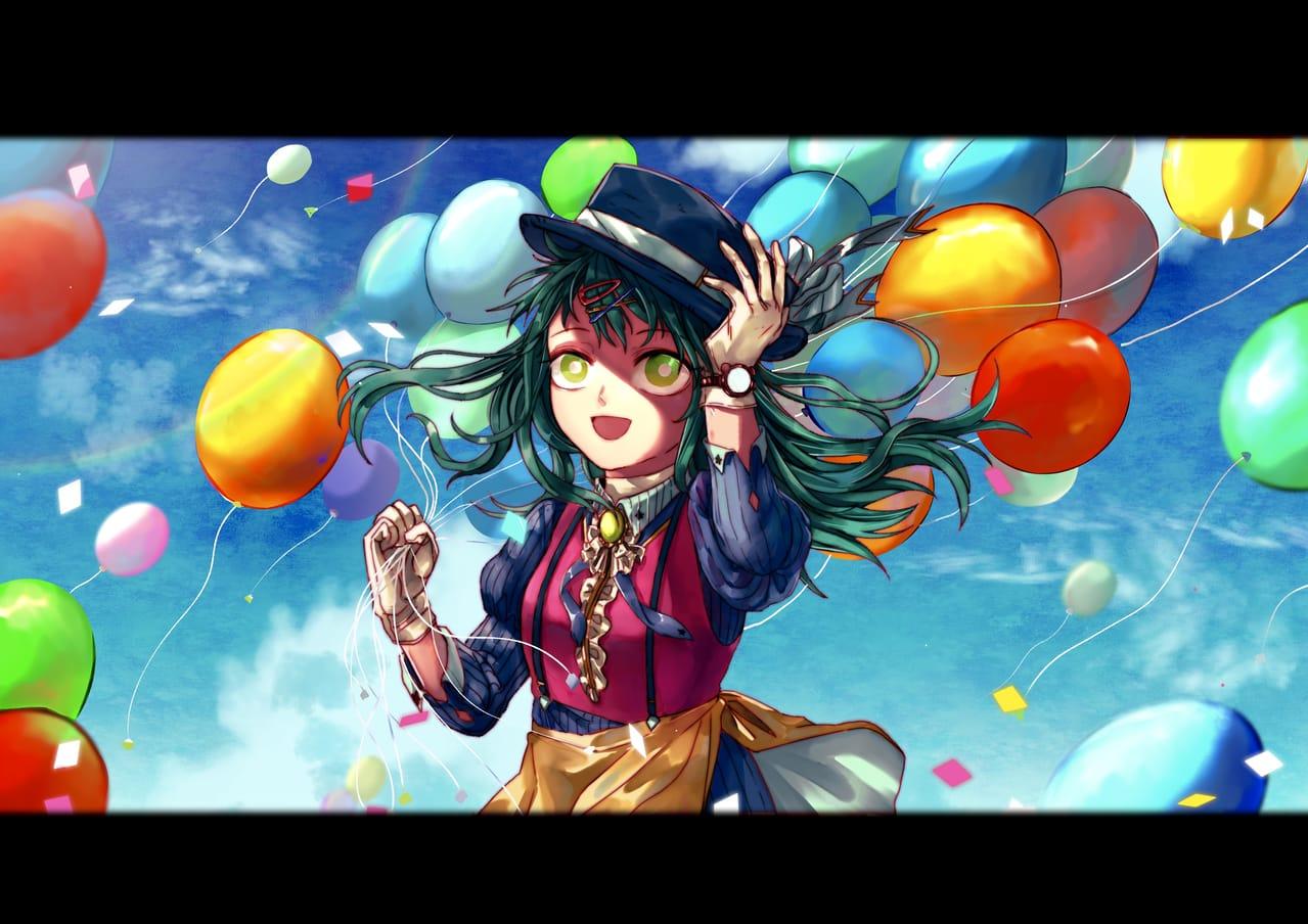 【原創】 Illust of 小小奈米 Balloon illustration 原創練習 original 原創插畫