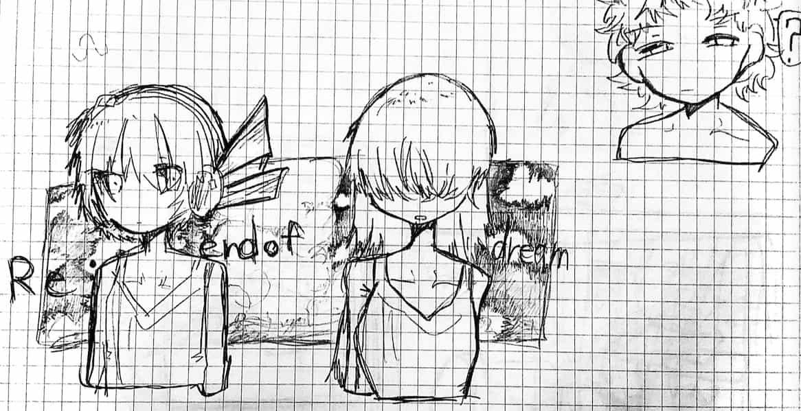 Re:end of dream Illust of 〰✧✞𝕿𝖎𝖚✞✧〰 ARTstreet_Ranking_Contest アナログイラスト オリジナルキャラクターではありません fanart モリモリあつし お借りしました FA オリキャラ(右上) アナログ 音ゲー曲 メカクレ