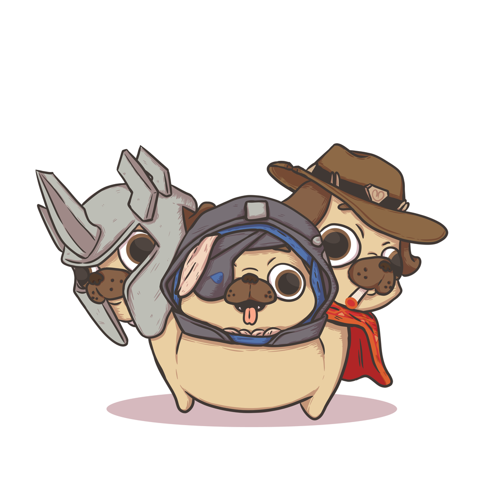 Overwatch Pugs (Commission)