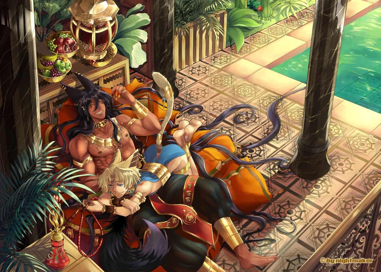 Egypt nights Illust of Nightmaker fantasy Original_Illustration_Contest animal_ears male