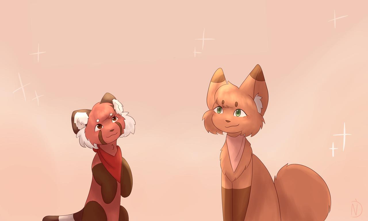 Ok...Hi again Illust of Namu random soft redpanda :D fox red aesthetic XD