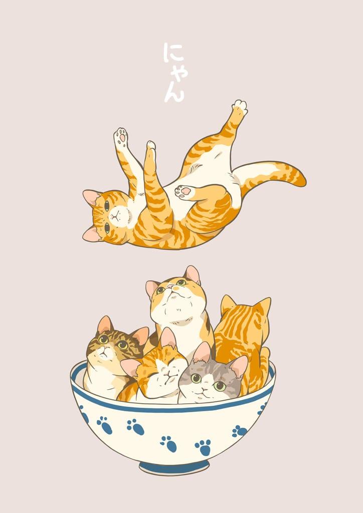 にゃんちろりん Illust of 砂虫隼 生き物 animal original cat
