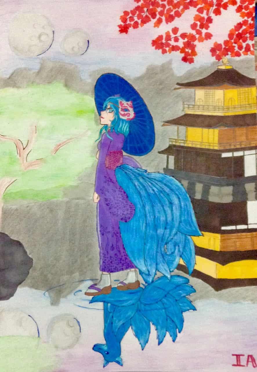 Golden Night Illust of IA. kyoto-illust2019 fox Nine-tails kyoto