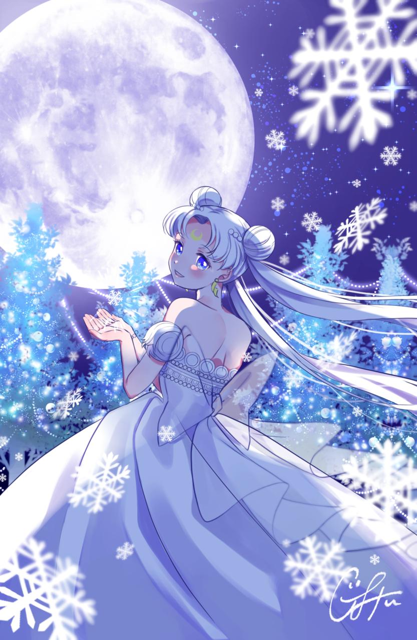 Holy night Illust of ぐみぃ プリンセス snow セレニティ PrettyGuardianSailorMoon Christmas sailormoonredraw UsagiTsukino