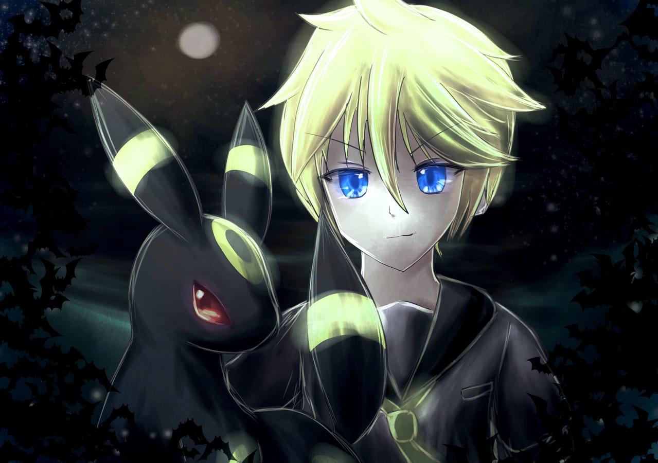 推しワンドロ Illust of 88里 KagamineLen VOCALOID Umbreon pokemon レッツワンドロ