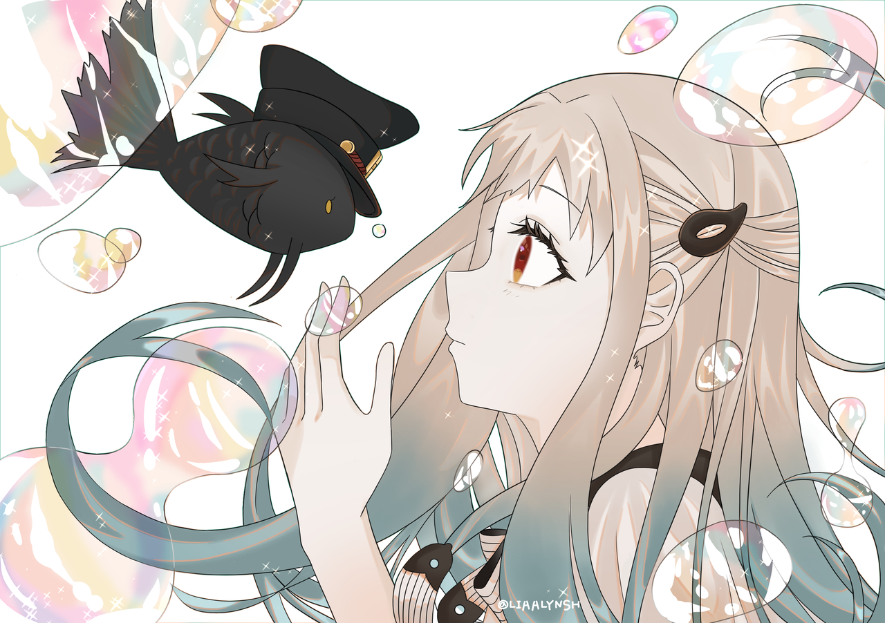 jibakushounenhanakokun Illust of LIAALYNSH drawing painting NeneYashiro digital art girl Toilet-boundHanako-kun kawai anime