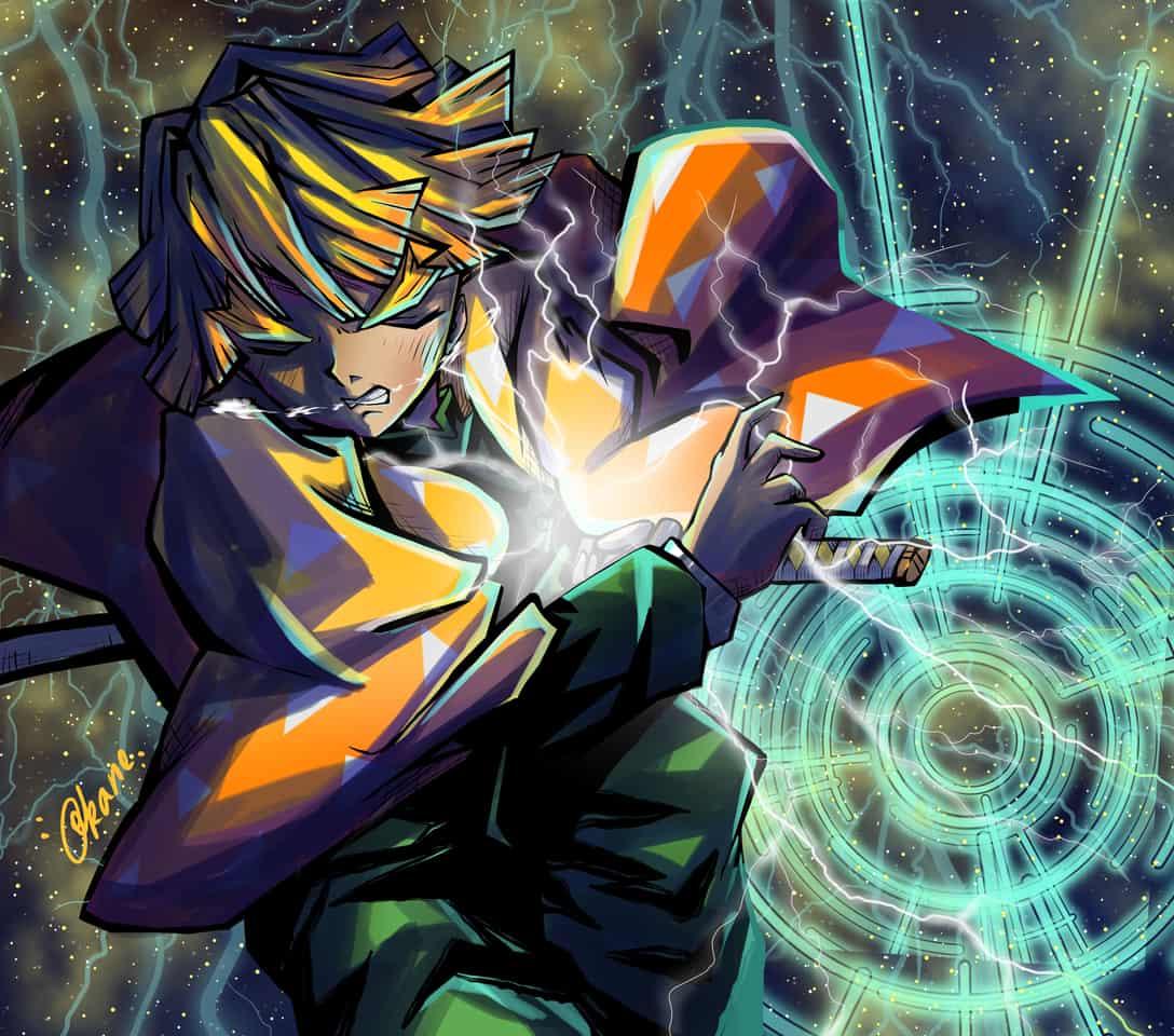 雷の呼吸、、、霹靂一閃!! Illust of Akanilka DemonSlayerFanartContest thunder lightning KimetsunoYaiba 雷 雷の呼吸