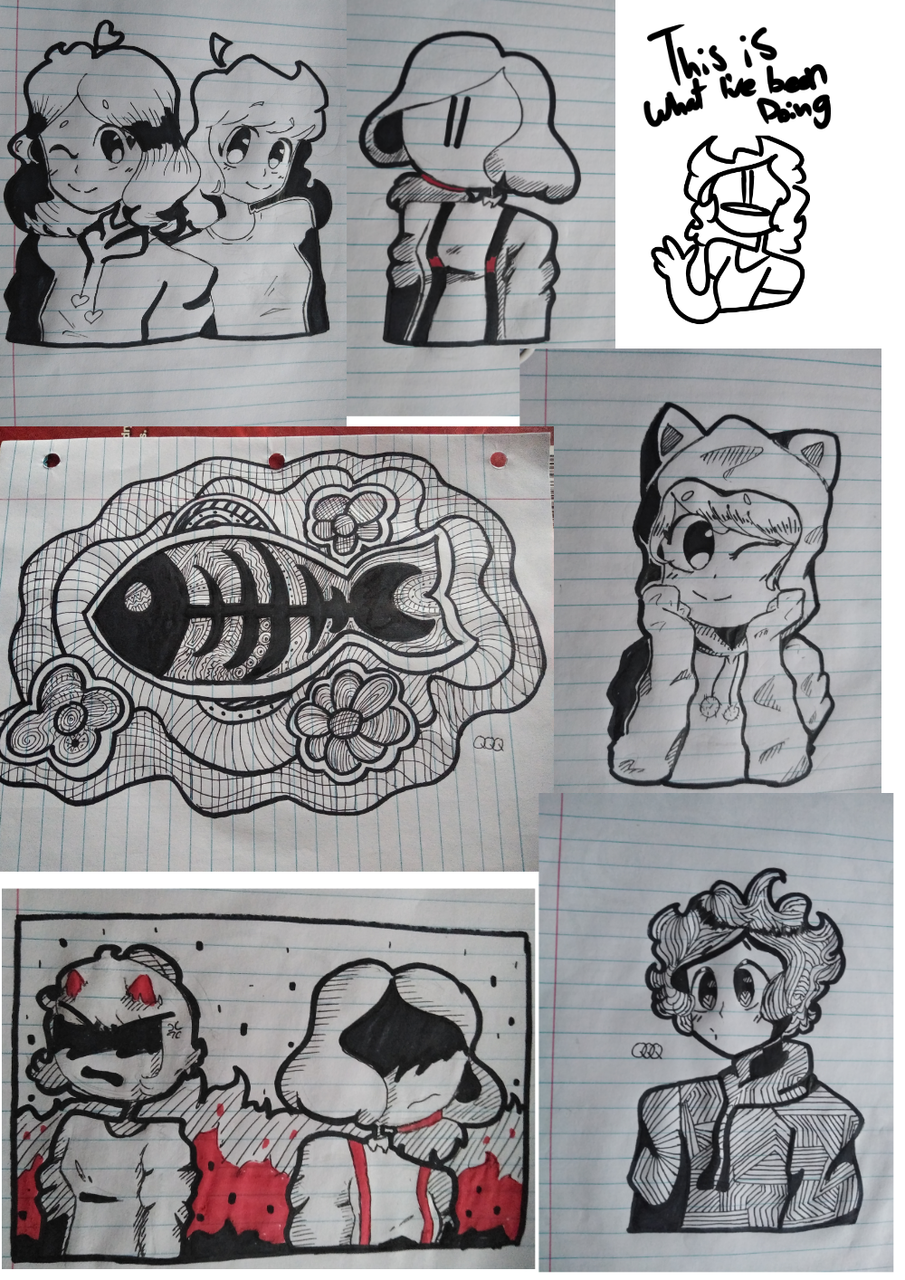 A bunch of doodles