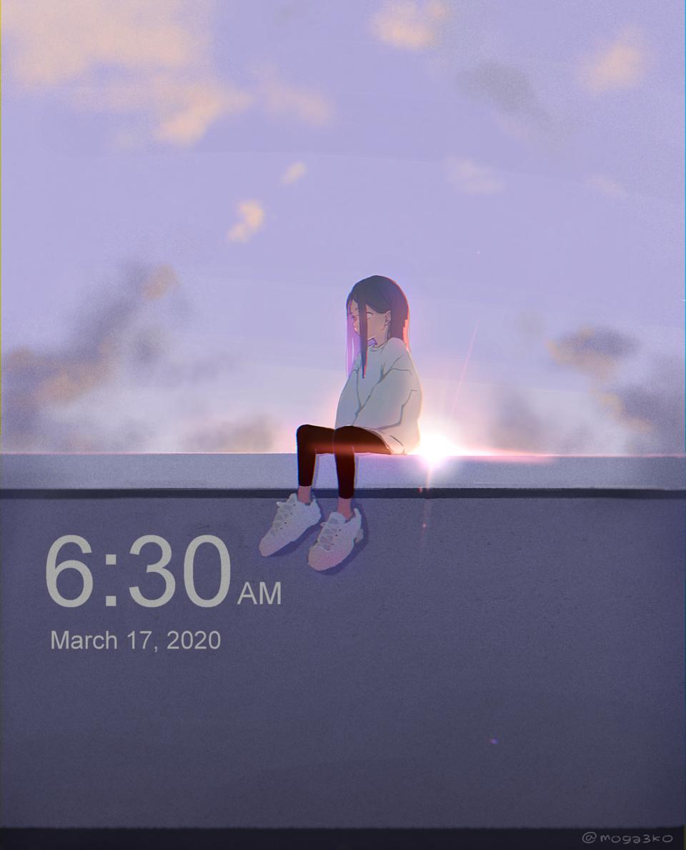 Illust of ももも scenery girl original