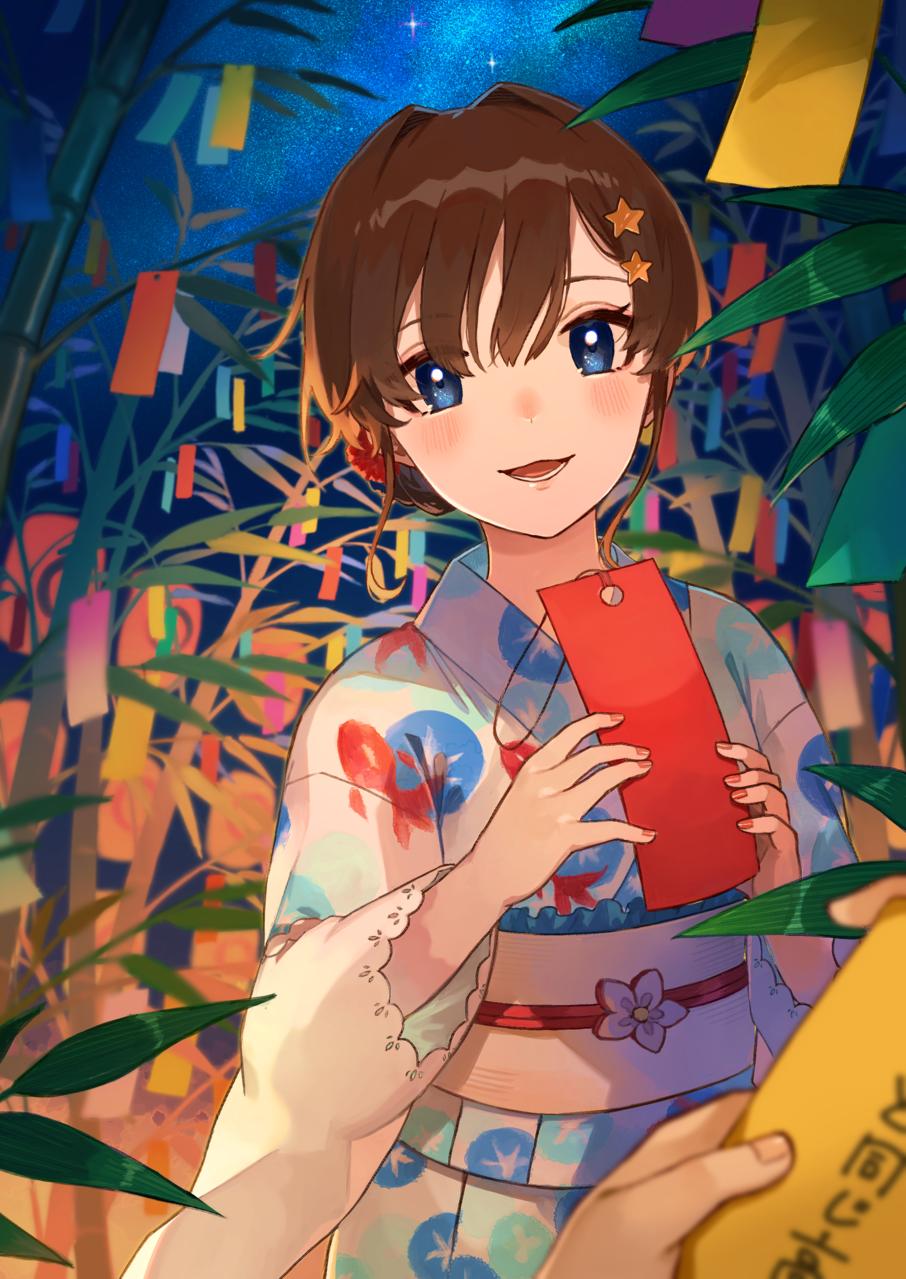 願い事、なんて書いた? Illust of 四鈴あざな medibangpaint 七夕 girl original