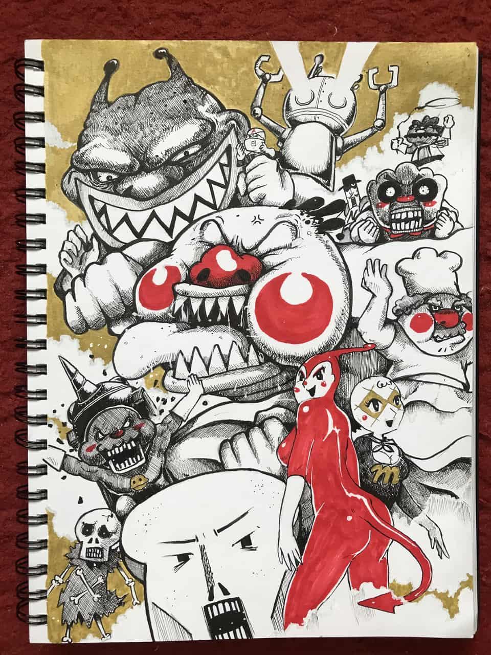 【お絵描き】あんぱんまんを描いてみた! Illust of chuanchieh illustration ペン画 original sketch drawing アンパンマン art