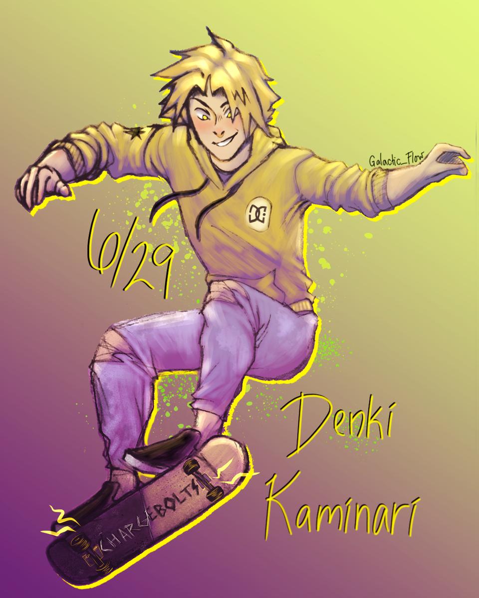 Happy Bday Denki! Illust of Galactic_Flow medibangpaint DenkiKaminari denki MyHeroAcademia kaminari