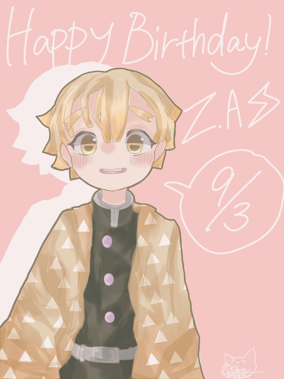 Happy birth day! 善逸! Illust of OSora KimetsunoYaiba AgatsumaZenitsu