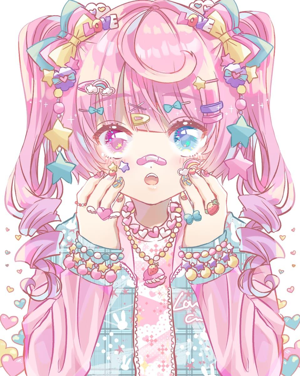 ❤ Illust of 知花そら ツインテ twin_ponytails 創作イラスト oc pink girl 創作少女 original