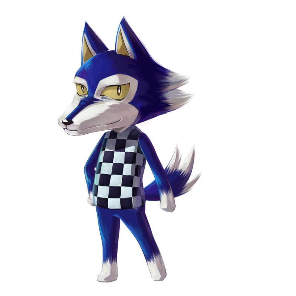 ブンジロウ Illust of わくわく medibangpaint AnimalCrossing wolf ブンジロウ