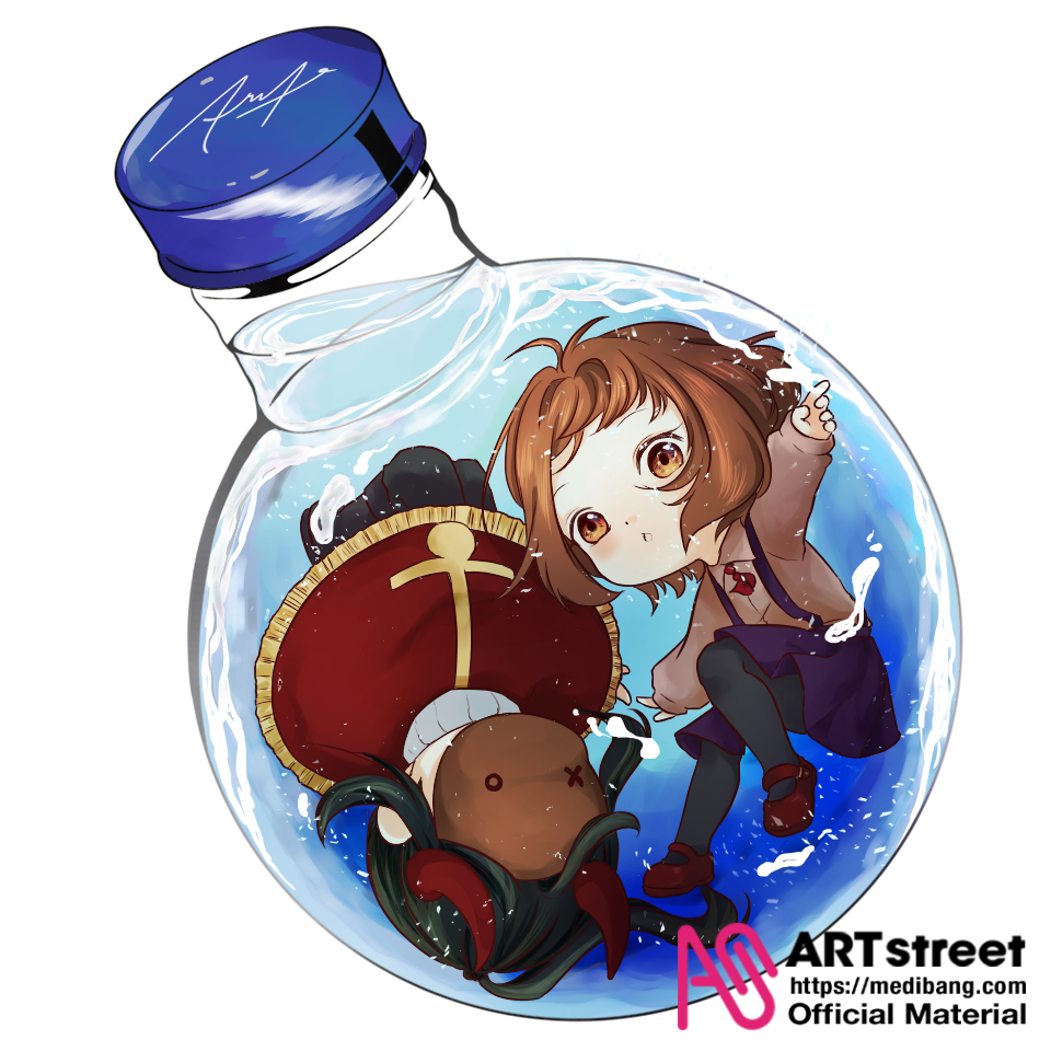 Lucent & Roem  Illust of Thk_Roem tracedrawing Trace&Draw【Official】 Jar water UwU