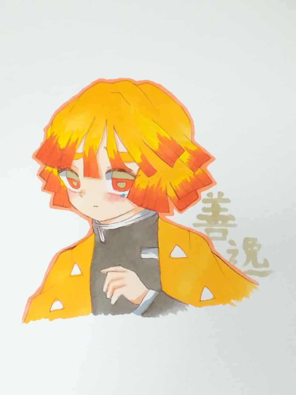 りりもんさんのリクエスト!(記号がわかりませんでした) Illust of いと AgatsumaZenitsu Copic KimetsunoYaiba