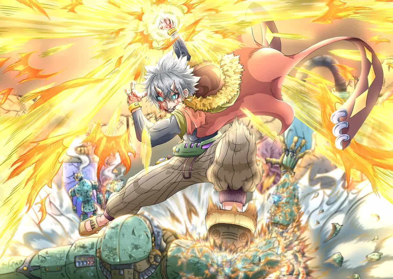 閃光の焔拳 Illust of なべっち 閃光 鬼 なべっち 焔 機械兵