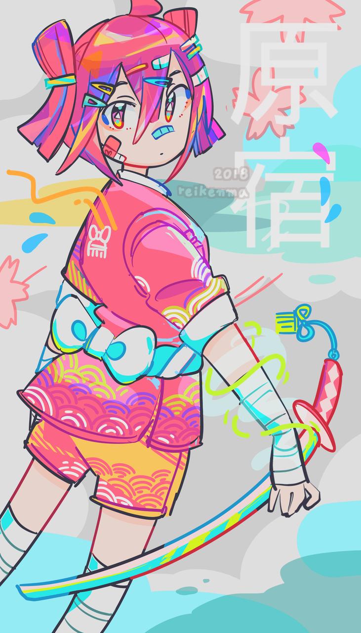 OC (2018) Illust of rei1OO oc girl original