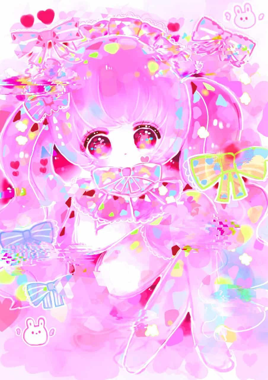 宝石が瞬いて煌めいて愛おしくて Illust of ぴふわ pink twin_ponytails アイビスペイント oc girl ibispaint ゆめかわいい