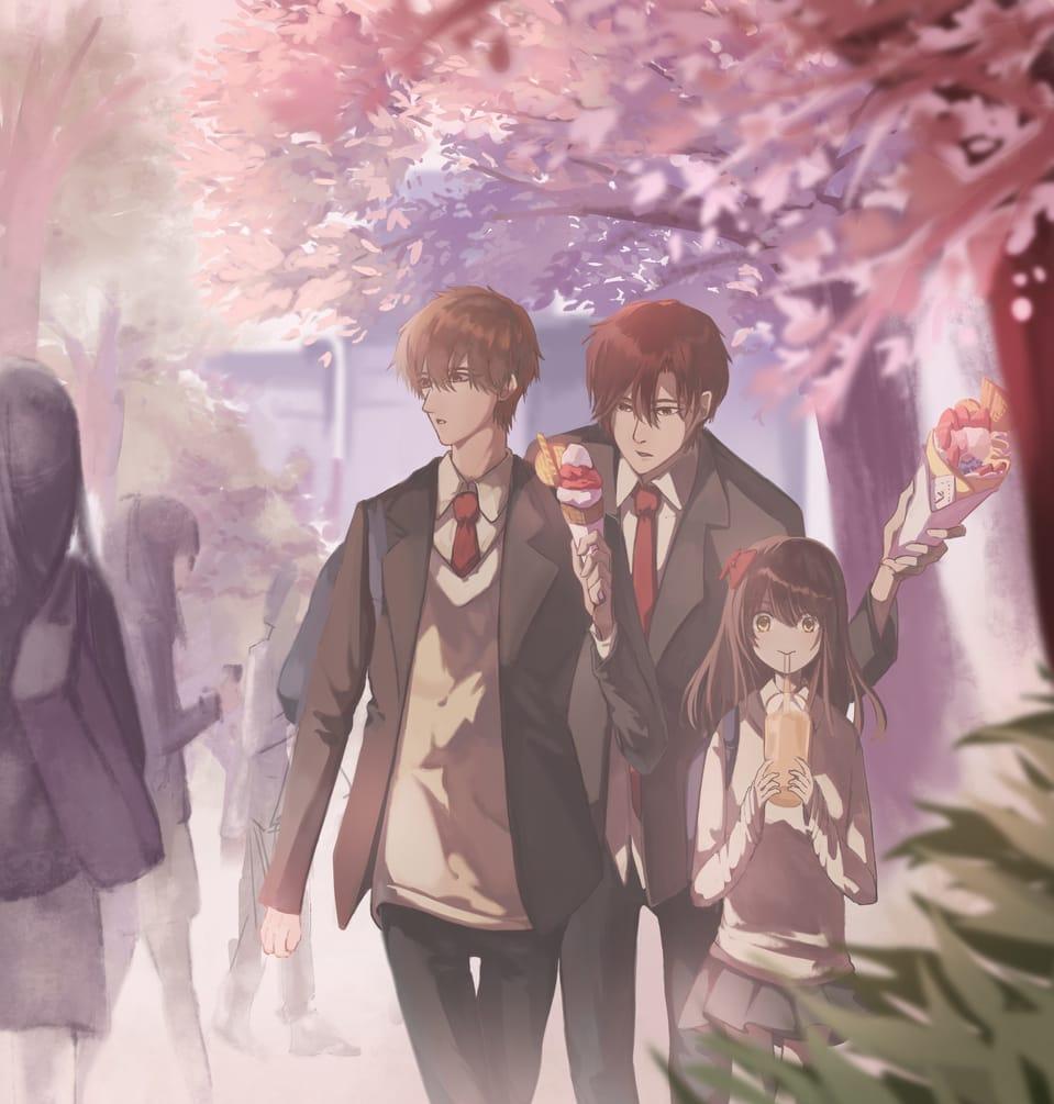 🍦🍦🍦 Illust of Sago boy girl 背景イラスト red original medibangpaint5000 food