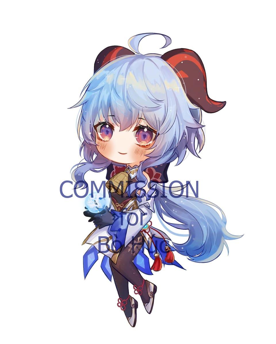 Còm nè :> Illust of Lanhuynh cute thisartshouldlvlup anime gái digi oc chibi màu thương commission
