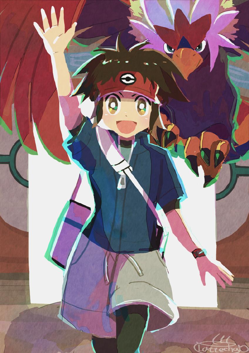 キョウヘイ&ウォーグル Illust of ラテ茶 pokemon fanart キョウヘイ boy