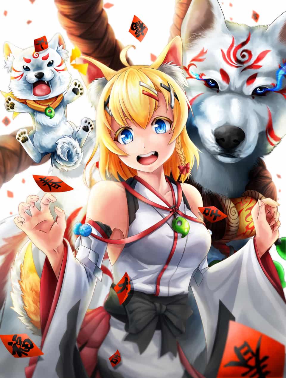 犬神巫女 Illust of 一撇 2ndMCPOillustration 巫女