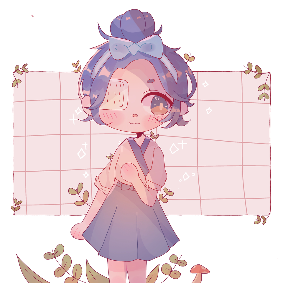my acnh character:D Illust of pErSon medibangpaint What girl AnimalCrossing aesthetic Not