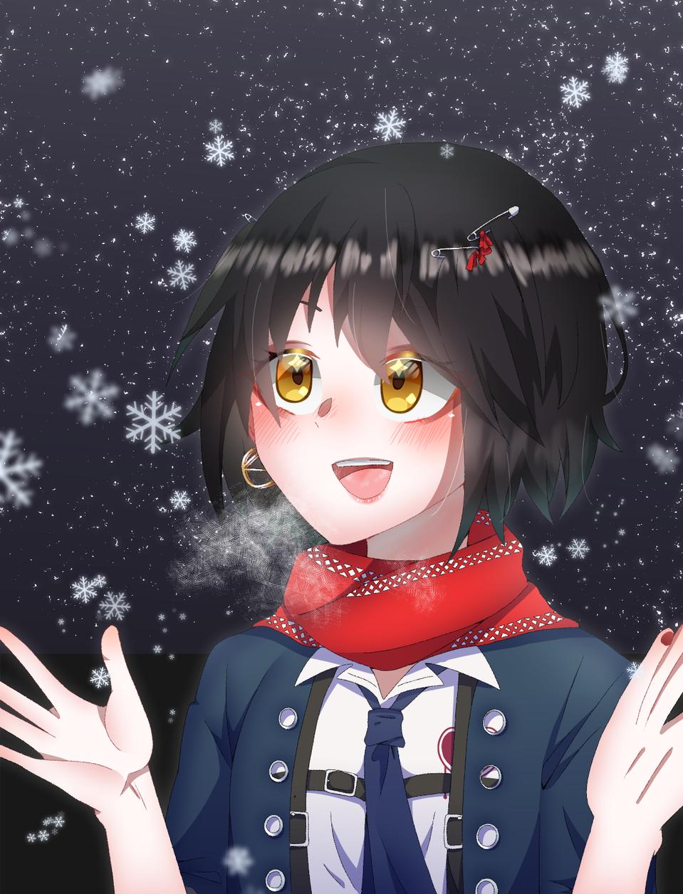 雪だぁ〜!✨ Illust of 柴の実はサファイア medibangpaint ましろ virtual_YouTuber snow にじさんじ