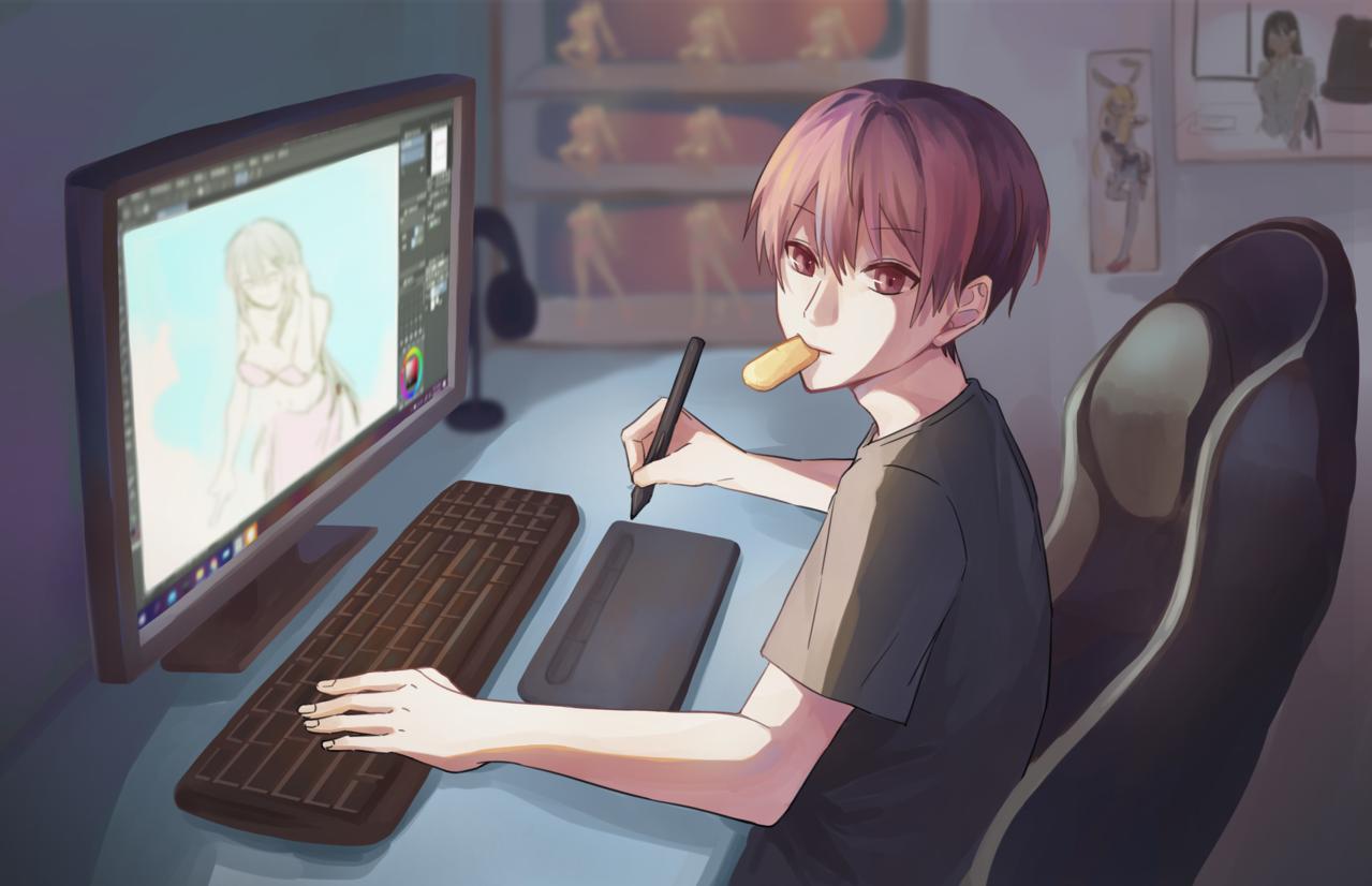原創宅 Illust of 烏絕 January2021_Contest:OC original boy