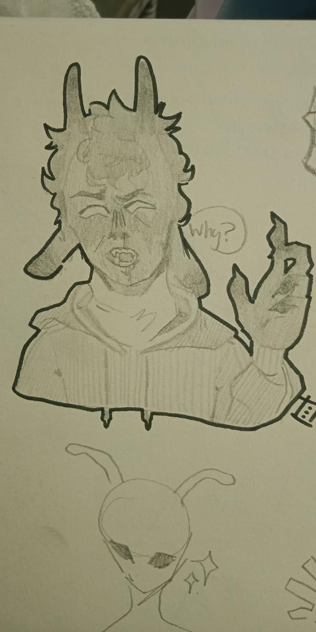 Mcyt fanart! +sans Illust of *Neon_Punk* heart DreamSMP sketch bbh 13 Artwork art technoblade ranboo mcyt