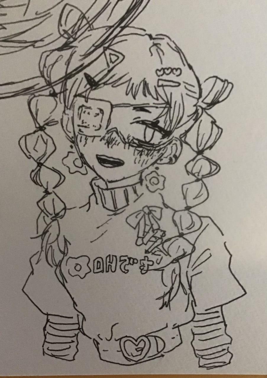 ちぅちゃんリスペクト絵 パクってないもん!皆タグみろおもろいぞ() Illust of OHTEAOH 小5 ちぅ大好き girl 浮気ではない 目玉焼き