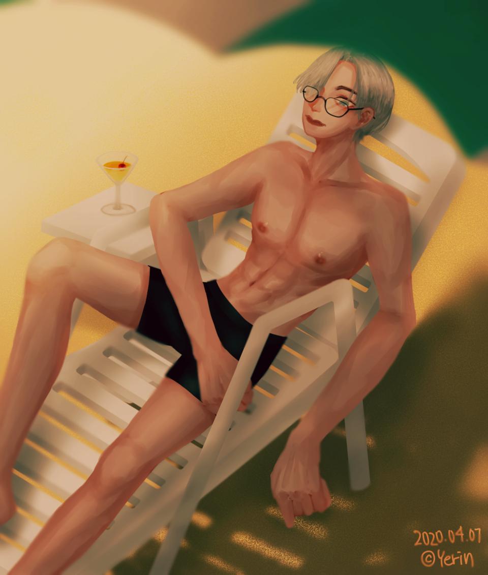 beach Illust of 하나두울 swimsuit beach